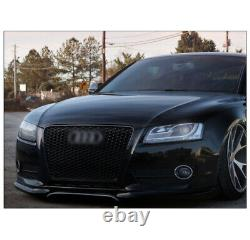Front Mesh Rs5 Style Bumper Hood Hex Grille Black For 2008-2012 Audi A5/s5 B8 8t
