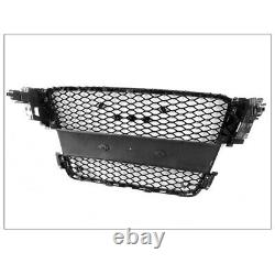 Front Mesh Rs5 Style Hex Grille Grey/chrome Trim For 2008-2012 Audi A5/s5 B8 8t