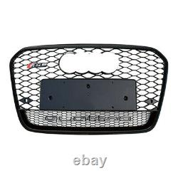 Front Mesh Rs6 Style Bumper Hood Grille Black For 2012-2015 Audi A6 C7 Quattro
