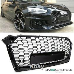 Front Radiator Grille honeycomb black gloss fits Audi A5 B9 F5 without RS5 up 16