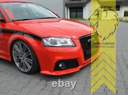 Frontstoßstange für Audi A3 8P auch für S3 und S-Line Grill schwarz