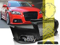 Frontstoßstange für Audi A3 8P auch für S3 und S-Line Grill schwarz für PDC