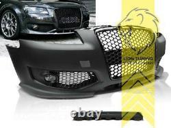 Frontstoßstange für Audi A3 8P auch für S3 und S-Line Grill schwarz glänzend