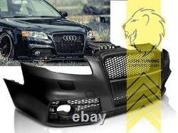 Frontstoßstange für Audi A4 B7 8E auch für S4 und S-Line Sportgrill schwarz