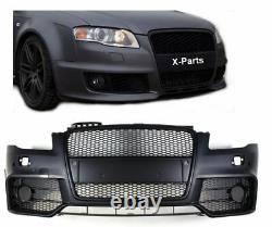 Frontstoßstange für Audi A4 B7 8E mit Grill schwarz PDC Frontschürze RS4