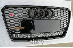 Full Black A7 Front Grille Grill for Audi A7 Sline & S7 2011-15 To RS7 Style