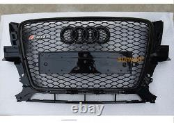 Full Black Q5 Front Mesh Grille Grill for Audi Q5 8R SQ5 09-12 To RSQ5 Style