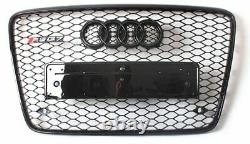 Full Black Q7 Front Mesh Grille Grill for Audi Q7 SQ7 SUV 2010-15 To RSQ7 Style
