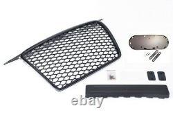 Für Audi A3 8P Kühlergrill Wabengrill Sport Front Tuning Grill Emblemhalter