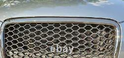 Für Audi A3 8P NUR S-Line Kühlergrill Wabengrill Front Grill Emblemhalter Glanz