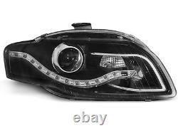 Für Audi A4 B7 04-08 RS4 Look Wabengrill + Led Scheinwerfer Stoßstange Auspuff