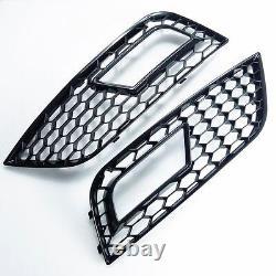 Für Audi A4 B8 12-15 RS4 Look Wabengrill Kühlergrill Waben Gitter diffusor 11