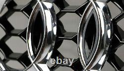 Für Audi A4 B8 12-16 RS4 Look Wabengrill für S-line Stoßstange Kühlergrill