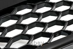 Für Audi A4 B9 2016- Kühler Grill Wabengrill Front Tuning Emblem Schwarz Glanz