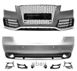 Für Audi A5 8T 08-12 RS5 -Look Frontstoßstange Heckstoßstange + Wabengrill #099