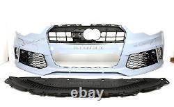 Für Audi A6 4G 11-14 RS6 -Look Frontstoßstange Kühlergril Led Scheinwerfer Grill