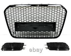 Für Audi A6 4G C7 11-14 RS6 Look Wabengrill Kühlergrill Blende Diffusor Bumper