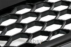 Für Audi A6 S6 4F C6 Kühlergrill Frontgrill Sportgrill Waben Grill Glanz Schwarz