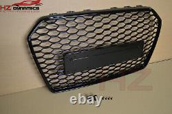 Gloss Black Badgeless Front Bumper Grill Grille For Audi A6 S6 C7 2015 2018 Face