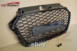 Gloss Black Edition Badgeless Front Bumper Grill Fits Audi A3 S3 2016 2019 Uk