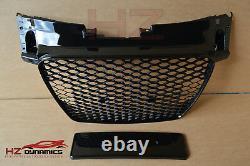 Gloss Black Grill Grille Badgeless Honeycomb 2006 2014 Audi Tt Tts Mk2 To Ttrs