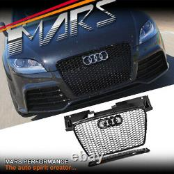 Gloss Black Honeycomb RS-TT Style Front Bumper Grille Grill for AUDI TT 8J 06-14