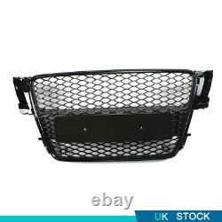 Gloss Black Honeycomb Radiator Front Bumper Grille Fit For Audi A5 B8 2008-2011