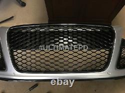 Gloss Black RS Bumper Front Grill AUDI R8 2007-2012 USA SELLER Euro Hex