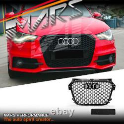 Gloss Black RS1 Honeycomb Style Front Bumper Grille Grill for AUDI A1 8X 10-14