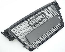 Gloss Black honeycomb mesh car grill for Audi A4 B8 S4 2008-2012 RS4 grille