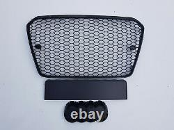Gloss black honeycomb grille grill for Audi A5 B8 8T S5 RS5 2012-2016 RS PDC