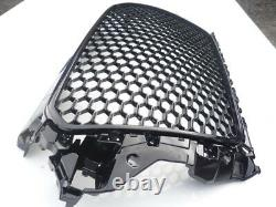 Gloss black honeycomb mesh car grill for Audi A3 8V 2012-2016 S3 RS3 grille