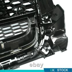 Glossy Black Front Bumper Grille RS Style Grill For Audi RS3 A3 8V 2014-2016