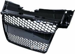 Glossy Black TTRS Style For Audi TT TTS 8J 2006-2014 Grille Honeycomb Grill