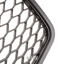 Honeycomb Mesh Black Badgeless Debadged Front Grill Grille For Audi A4 B7 05-07