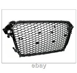 Honeycomb Sport Mesh Rs4 Style Hex Grille Grill Black For 13-16 Audi A4 S4 B8.5