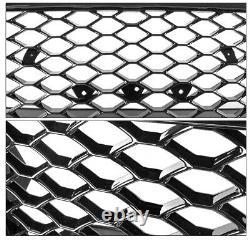 Honeycomb Sport Mesh Rs5 Style Hex Grille Grill Black For 08-12 Audi A5/s5 B8 8t
