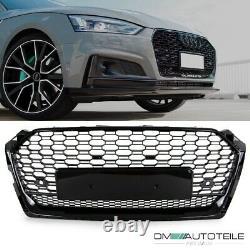 Kühlergrill Grill Wabendesign Trichter hochglanz Schwarz passt für Audi A5 F5