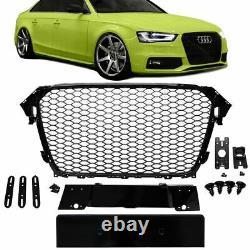 Kühlergrill Wabengrill Schwarz Hochglanz passend für Audi A4 B8 11-15 + Zubehör