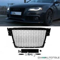 Kühlergrill Wabengrill Schwarz Hochglanz passt für Audi A4 B8 ab 08-12 kein RS4