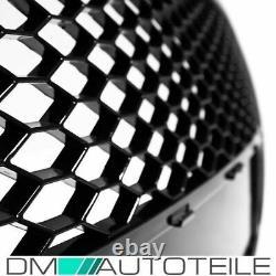Kühlergrill Wabengrill Schwarz Hochglanz passt für Audi A6 4F C6 04-09 + Zubehör