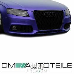 Kühlergrill Wabengrill Schwarz + Nebelscheinwerfergitter nur für Audi A4 B8 08