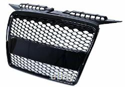 New Audi A3 8p 2004-2008 Rs Style Look Gloss Black Mesh Honeycomb Bumper Grille