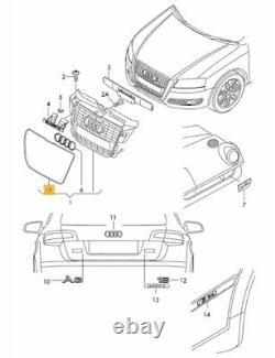 New Genuine Audi A3 08-13 Front Bumper Center Grill Chrome Surround Frame