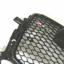 Q5 Full Black Front Mesh Grille Grill for Audi Q5 8R SUV 2013-15 To RSQ5 Style