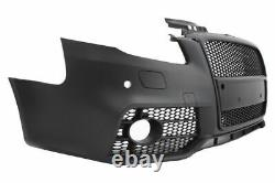 RS Design Front Bumper with Black grill For Audi A4 B7 2004-2008 with PDC