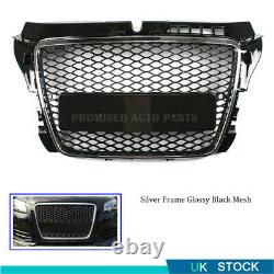 RS STYLE BLACK BADGELESS MESH Front Bumper GRILL GRILLE FOR AUDI A3 8P 2009-2011