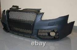RS Style and look Front Bumper with Black grill For Audi A4 B7 2004-2008