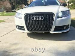 RS TYPE HONEYCOMB GLOSS BLACK Front Grill For Audi A4 B7 04-08 SE