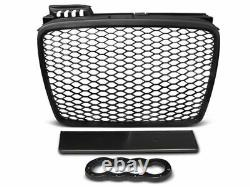 RS TYPE HONEYCOMB MATT BLACK Front Grill For Audi A4 B7 04-08 SE Edition